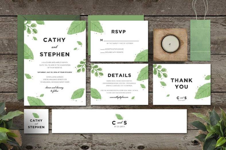 simple-leaves-invitation-template-set