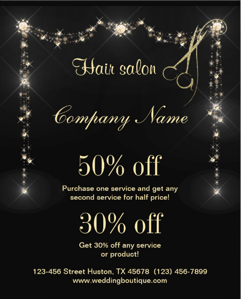 sparkly-hair-salon-flyer