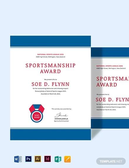 sportmanship award