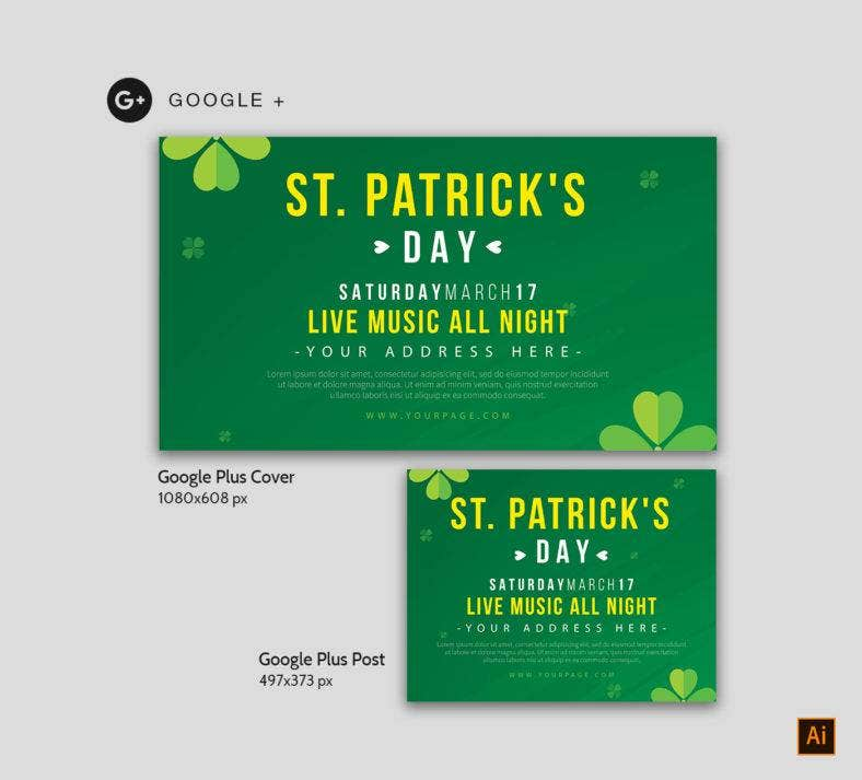 St Patrick's Day Google Plus