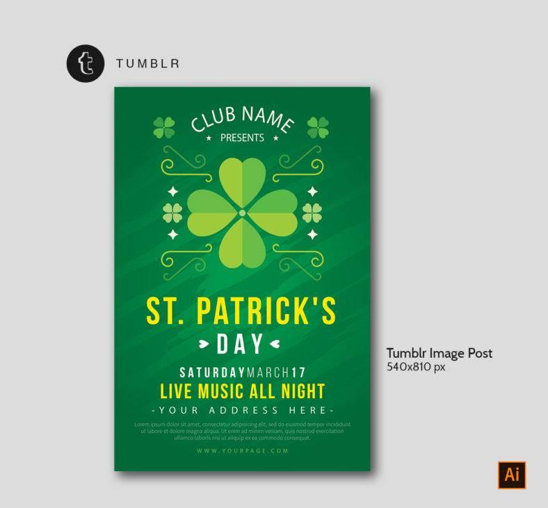 St Patrick's Tumblr Template