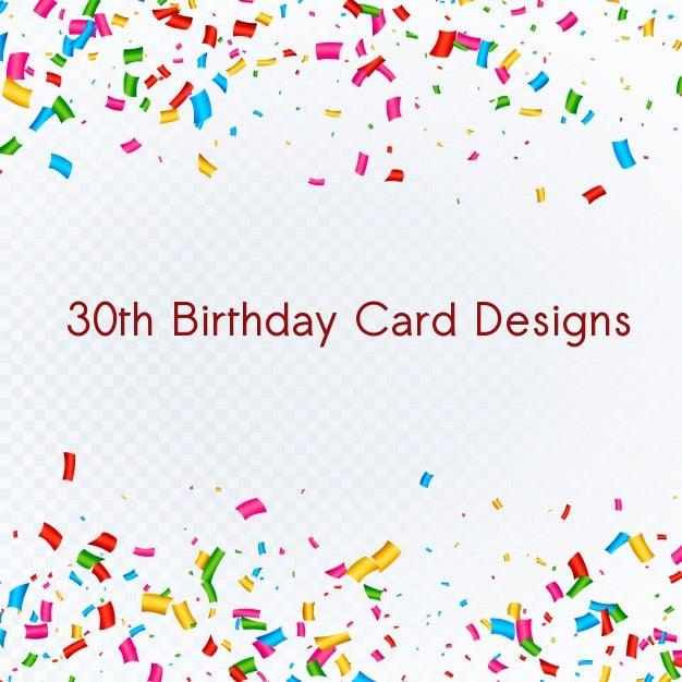 6 30th Birthday Card Designs Templates PSD AI