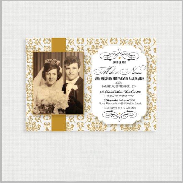 32 50th Wedding Anniversary Invitation Designs Templates