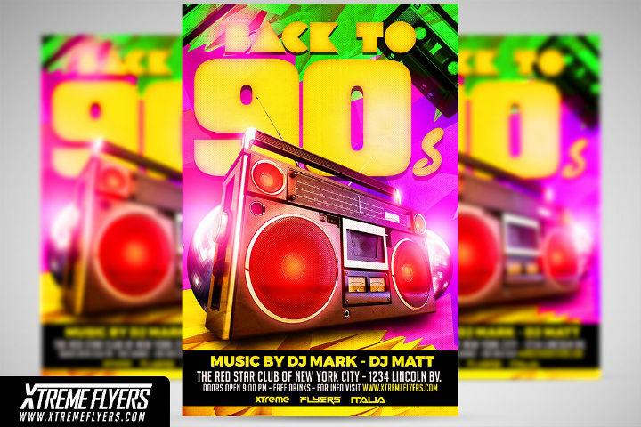 90s-retro-disco-party-invitation-template