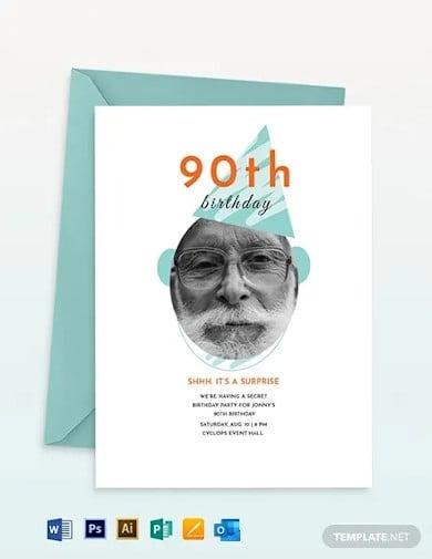 90th birthday invitation template1