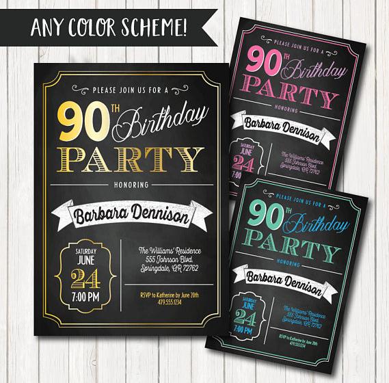11 90th Birthday Invitations Free Amp Premium Templates