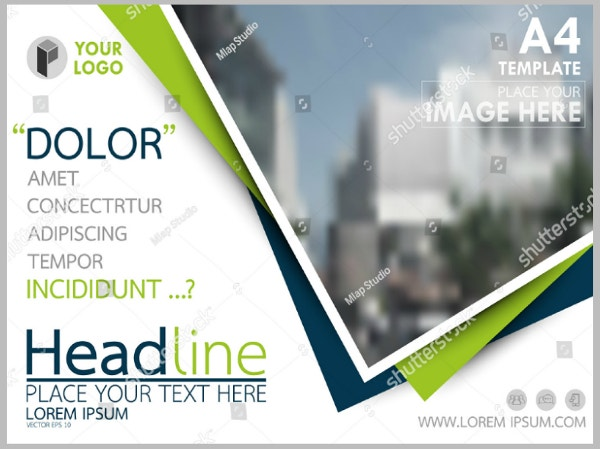a4 sized stock horizontal flyer template