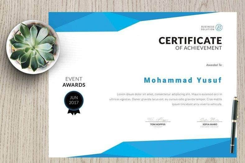 Academic Event Certificate