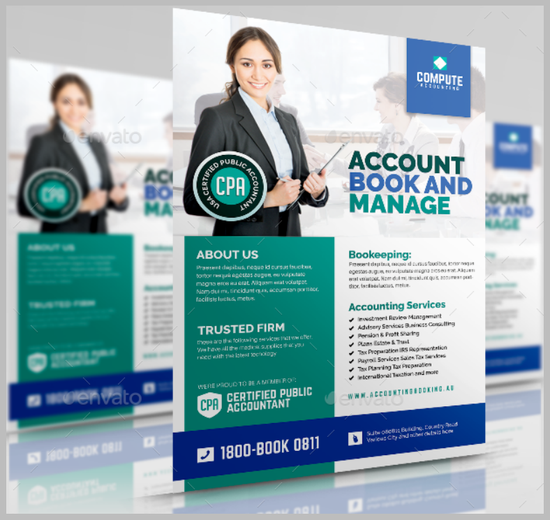 Accounting Bookkeeping Firm Flyer