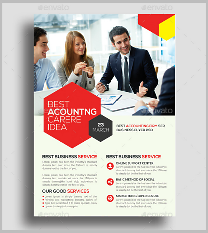 Accounting Firm Flyer Template in PSD