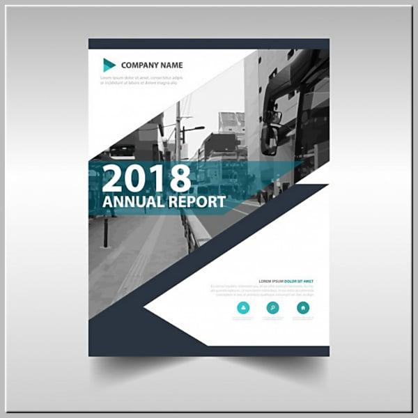 Annual Report Creative Book Cover Template