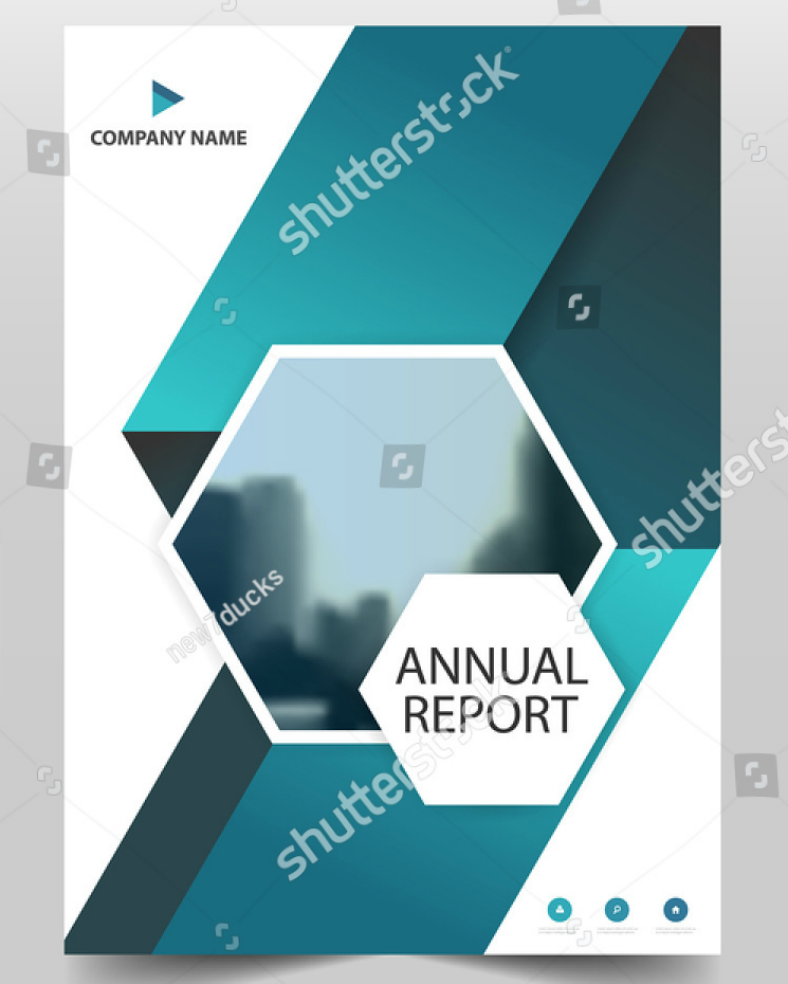 Annual Report Hexagon Flyer Template