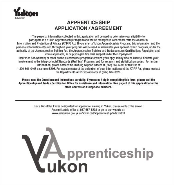 apprenticeship application agreement