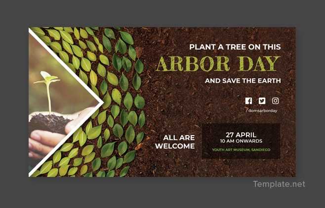 Free Arbor Day Google Plus Templates