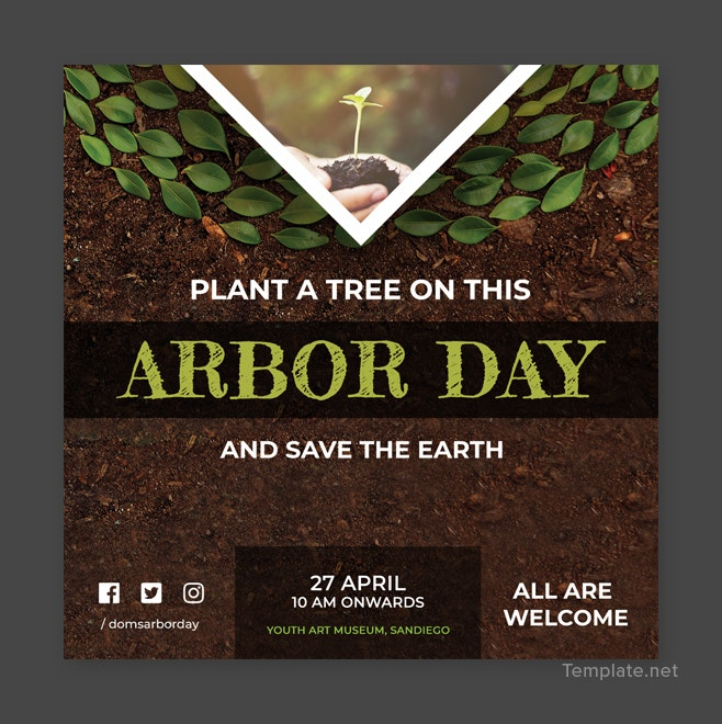 Free Arbor Day Instagram Post Template