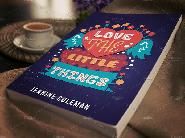 artistic little things love book cover template