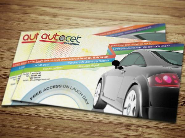 automobile shop horizontal flyer template