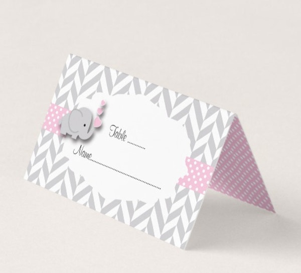 Baby Shower Place Card Design