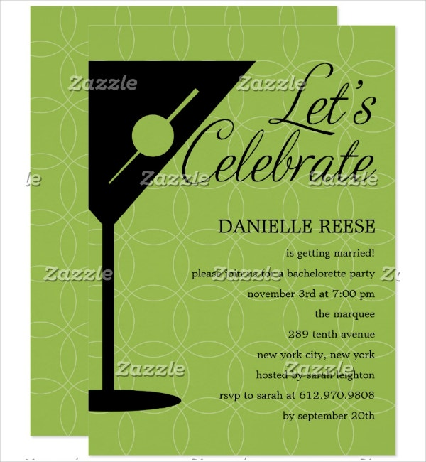 Bachelorette Happy Hour Invitation Template