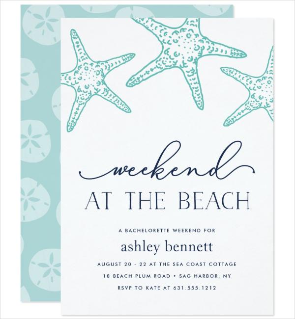 Beach Weekend Invitation Template