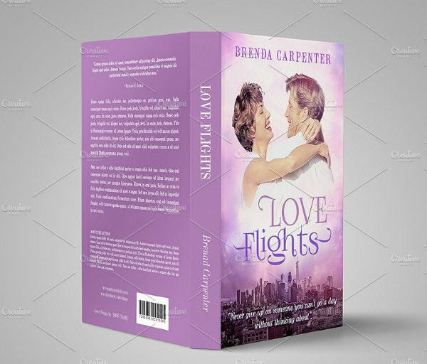 beautiful love flights book cover template