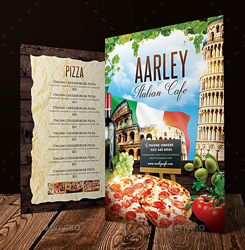 beautiful rustic italian cafe menu template 788x804