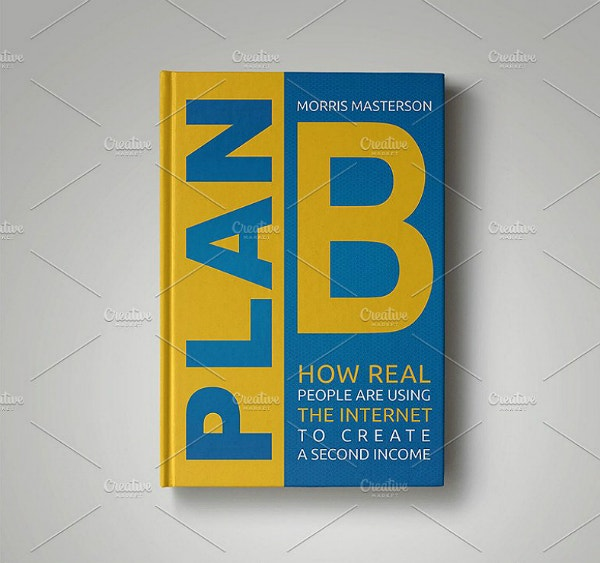 Big Typographic Creative Book Cover Template