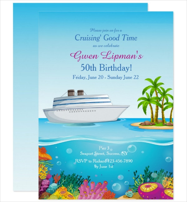 Birthday Paradise Invitation Template