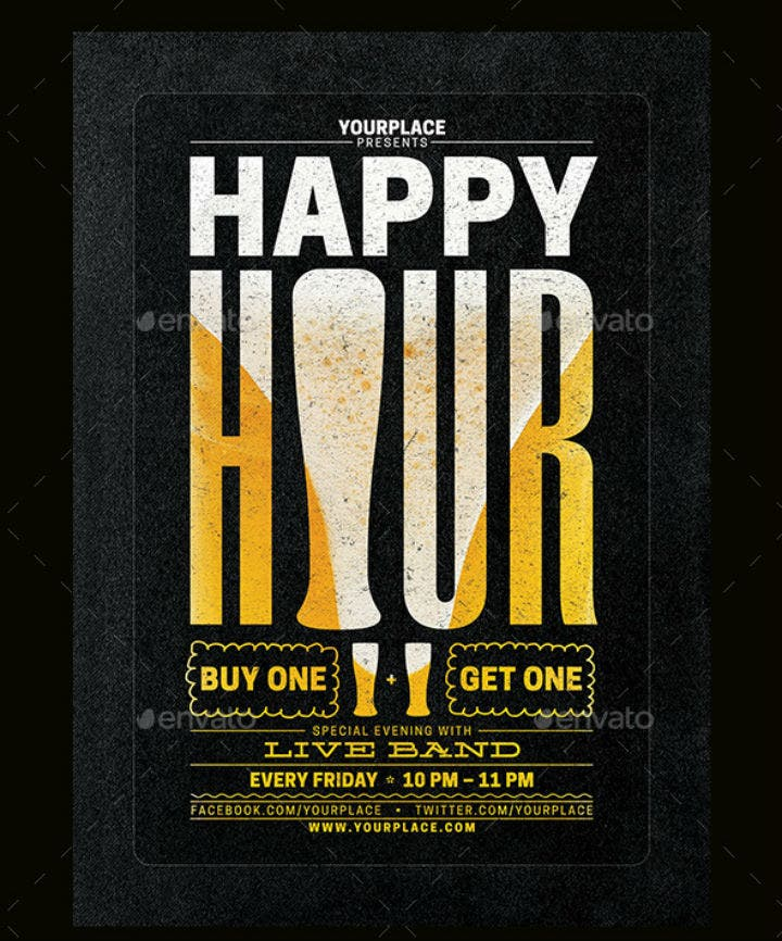 black-happy-hour-menu-flyer-poster-template