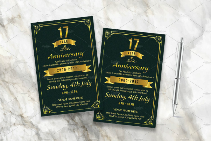 50th Wedding Invitation Templates