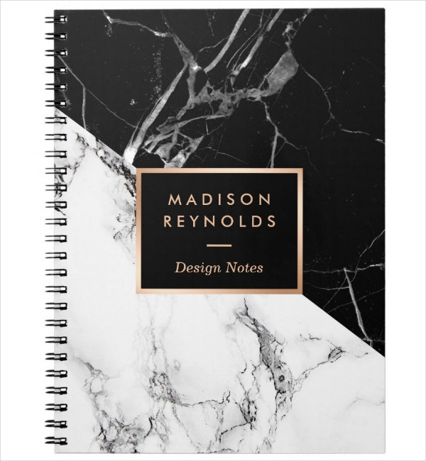 Black and White Notebook Cover Template