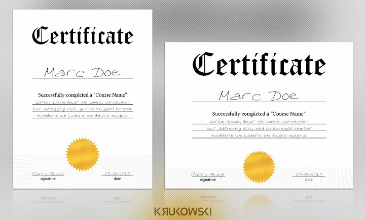 blank degree certificate template