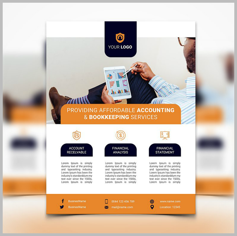 13 Accounting And Bookkeeping Service Flyer Designs Templates