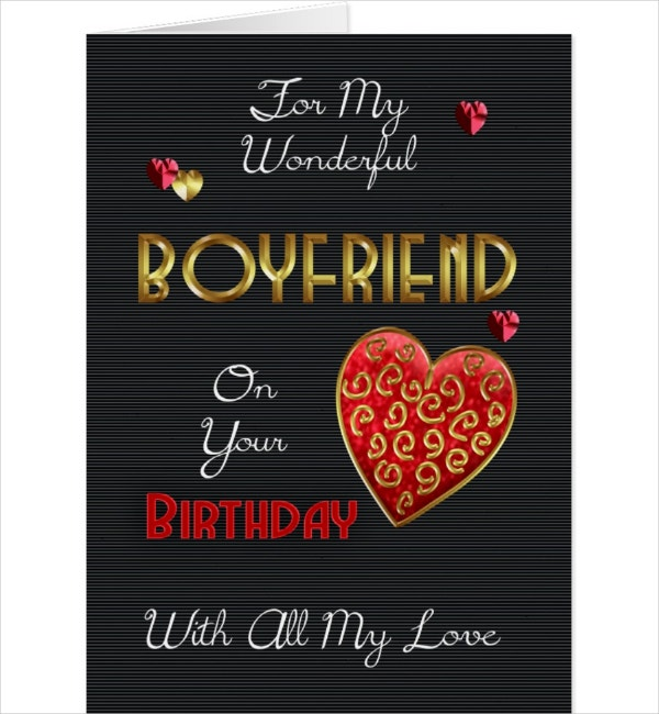 Boyfriend Birthday Card Template