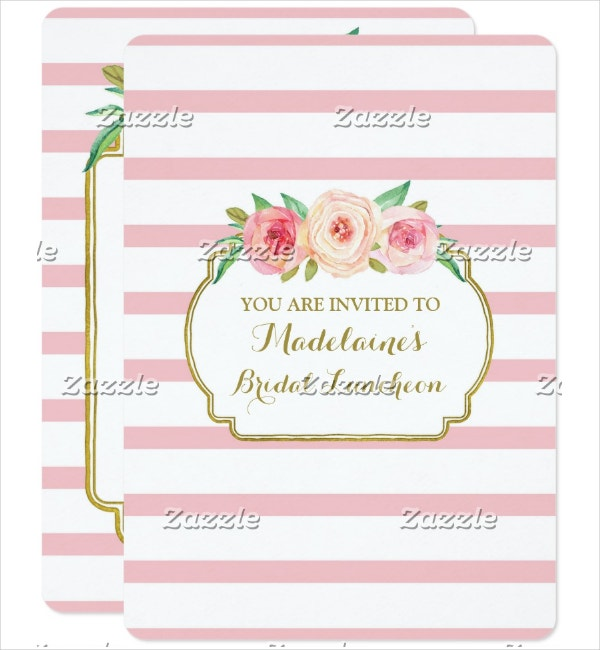 Bridal Printable Lunch Invitation Template