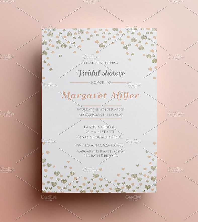 bridal shower confetti invitation template 788x882