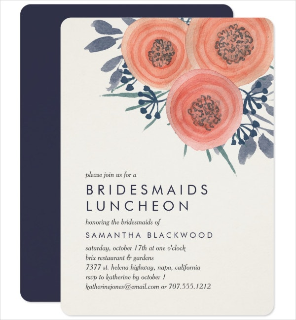 Bridesmaids Luncheon Invitation Template