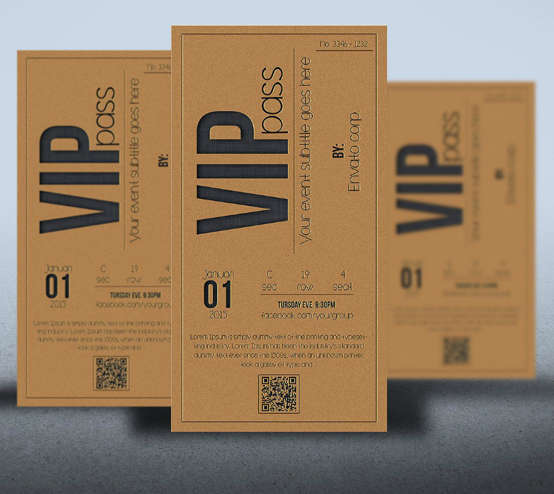 Brown Multipurpose VIP Invitation Template