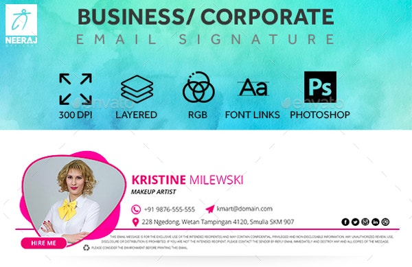 Business / Corporate Email Signature