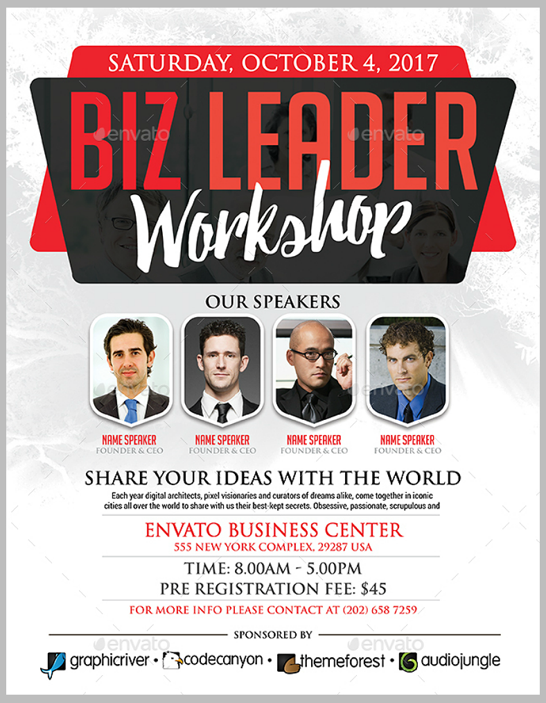 Business Leader Workshop Flyer