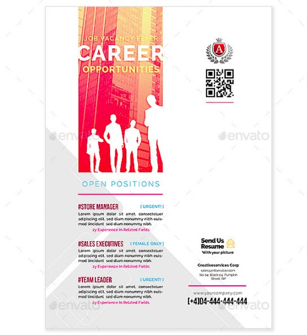 Career Opportunities Flyer for Job Vacancies