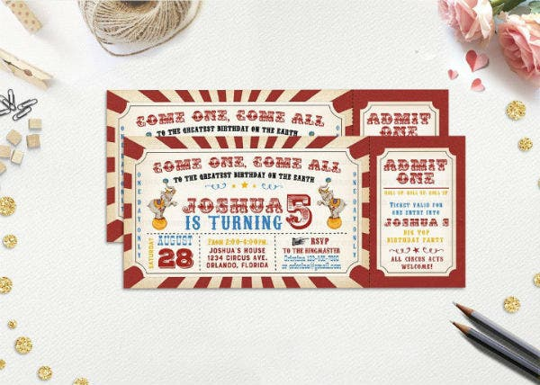 carnival party invitation ticket template featured img