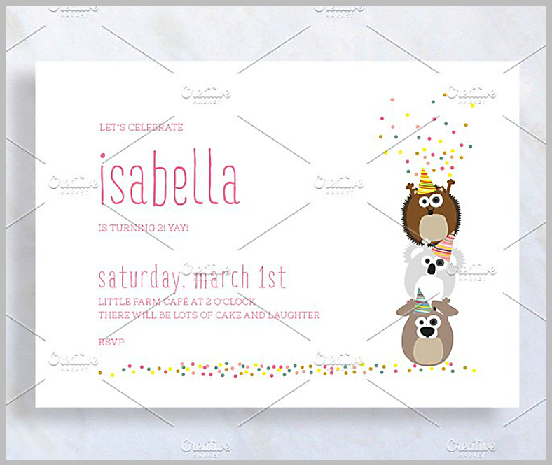 cartoon animals birthday confetti invitation template 788x665