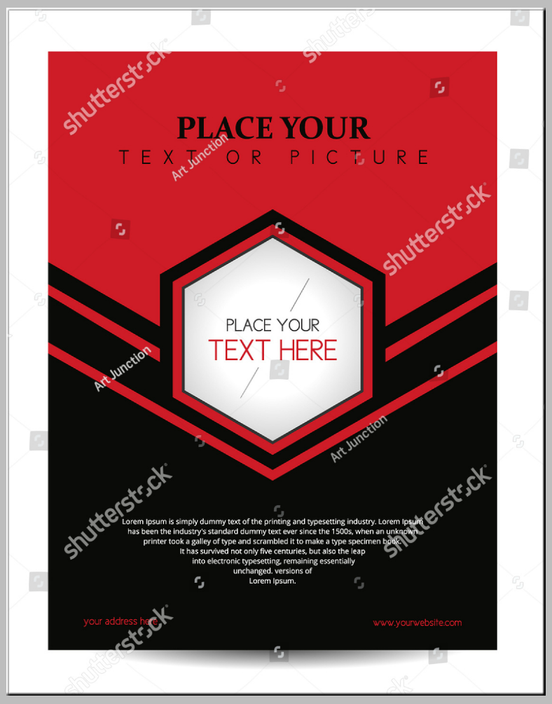 Centered Hexagon Frame Flyer