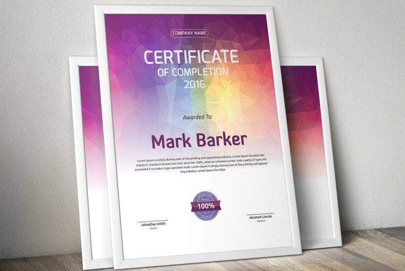 certificate-design-with-pastel-colors
