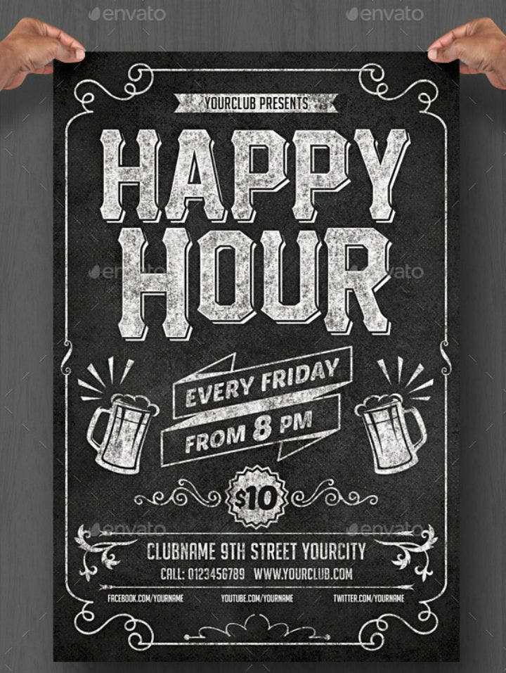 chalkboard-happy-hour-menu-flyer-template