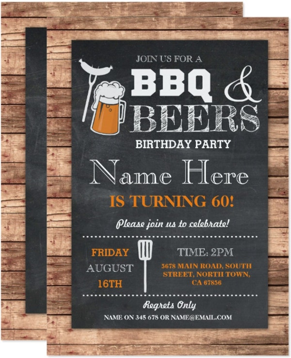 cheers and beers bbq invitation template