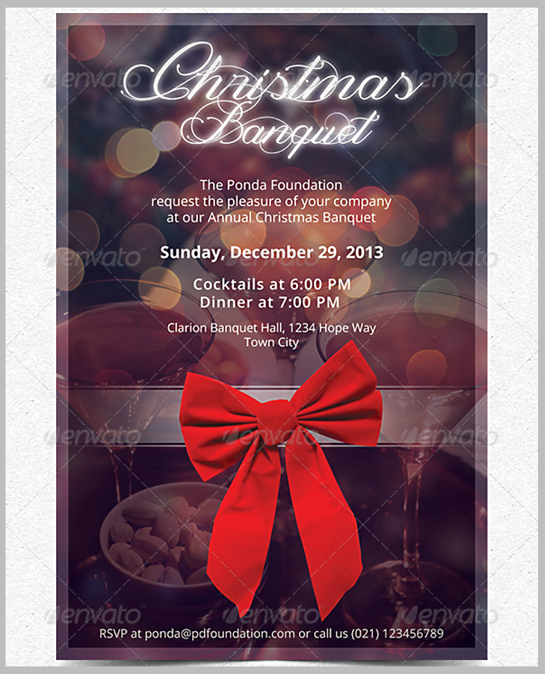 Christmas Banquet Invitation Template