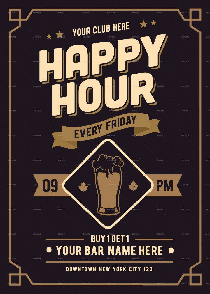 classic-happy-hour-drinks-flyer-menu-template