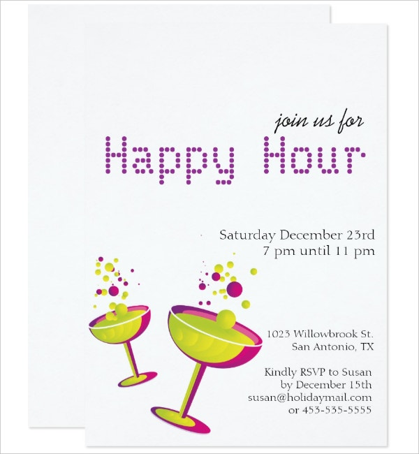 Cocktails Happy Hour Invitation Template